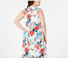 Love squared white floral print sleeveless dress size 1X