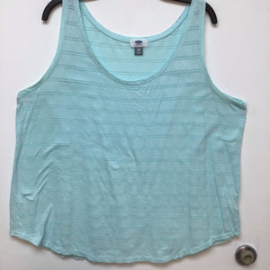 Old Navy plush blue tank top size XXL