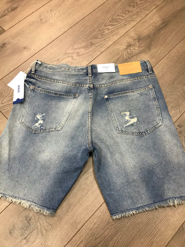 H&M straight fit distressed men's Shorts