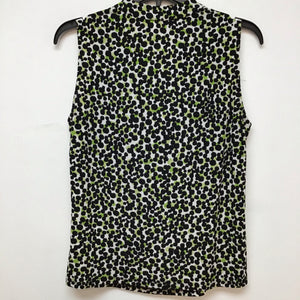 Collection separates by le suit white black and lime blouse size M
