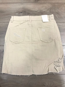 Buzz Twill Skirt . Color Khaki