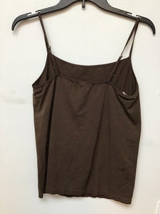Daisy Fuentes brown spaghetti strap top size large