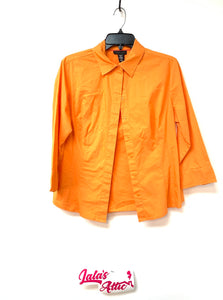 Apostrophe Stretch Button Up