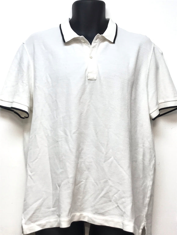 ATM Contrast Tip Cotton Pique Polo - Size XL