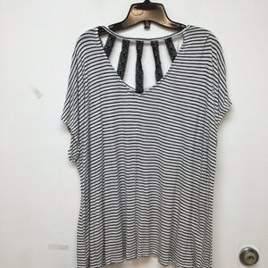 Lane Bryant black and white striped blousesize 18/20