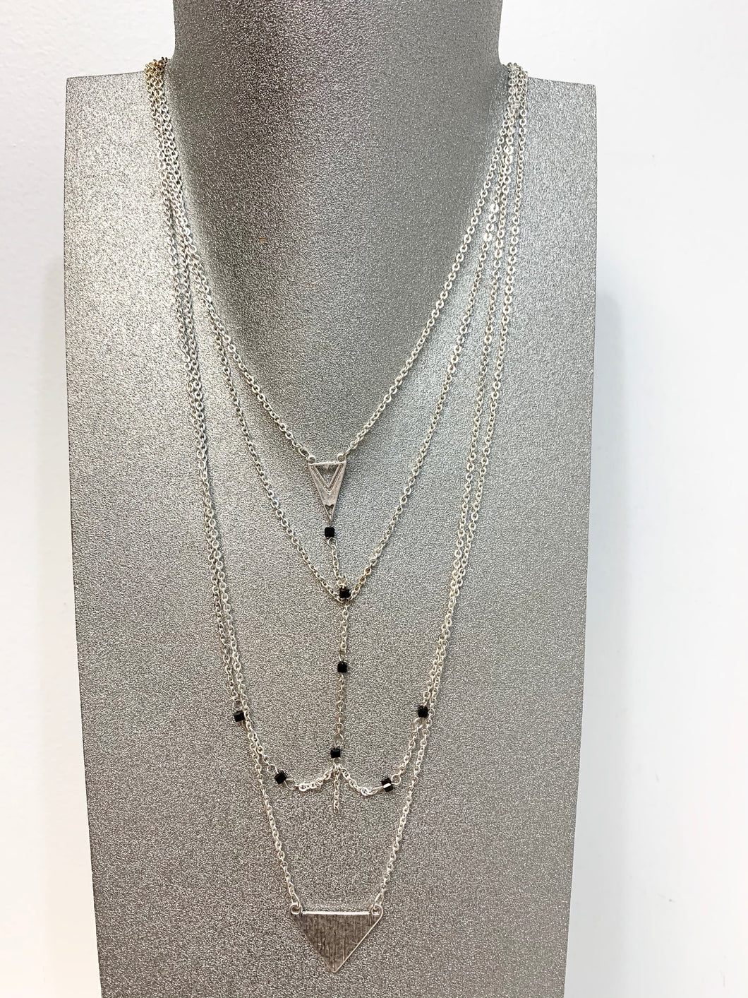 Sarina Triangular Multi Chained Necklace