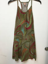 Mossimo Supply Co. spaghetti strap olive green dress with colorful print size Xsmall