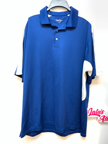 Walter Hagen Short Sleeve Polo - Blue/White