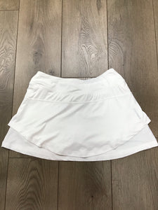 Head valiant dual skort stark white