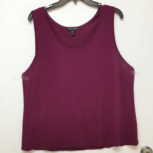 Eileen Fisher plum sleeveless top size XL