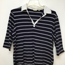 St Johns Bay navy blue and white striped top 1X