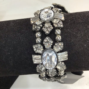 Sarina silver and crystal bracelet