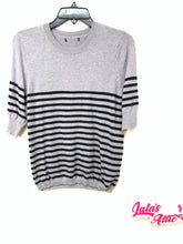 Unbranded Striped Half Sleeve Sweater