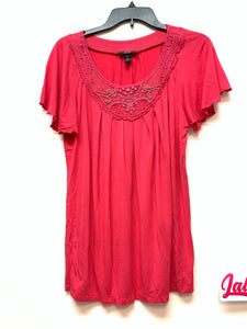 AGB Short Sleeve blouse - Berry