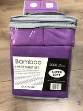 Bamboo Queen Sheet Set 2000 Series - Solid Purple