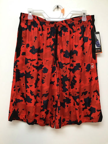 And 1 basketball shorts red and grey camo print size medium