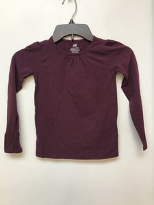 Girls H&M Burgundy Long Sleeve