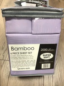 Bamboo Queen Sheet Set 2000 Series - Solid Lavender