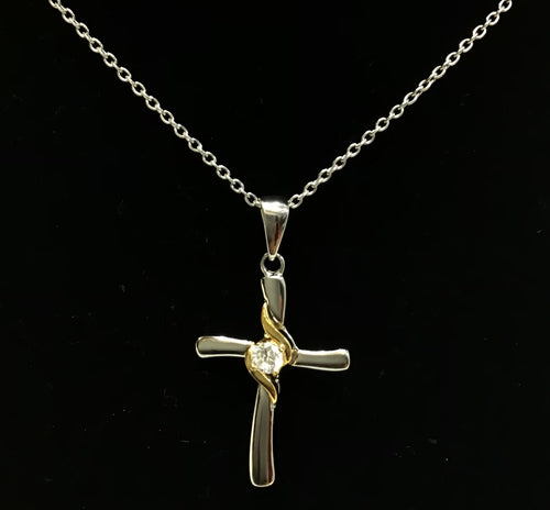 Cross with Stud Pendent