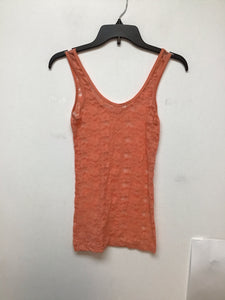 Aeropostale peach lace sheer tank top size XS