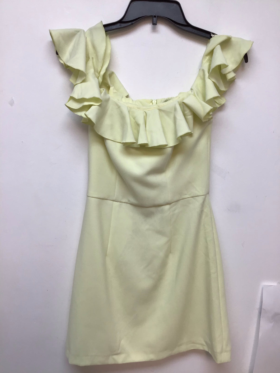 French connection lemon yellow dress size 2