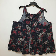 Torrid gray floral prints sleeveless top size 2