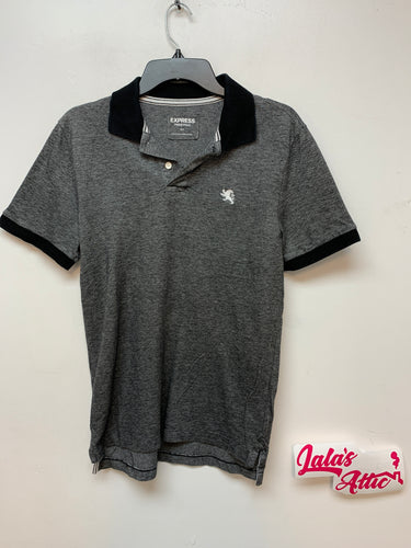 Express Pique Polo Grey