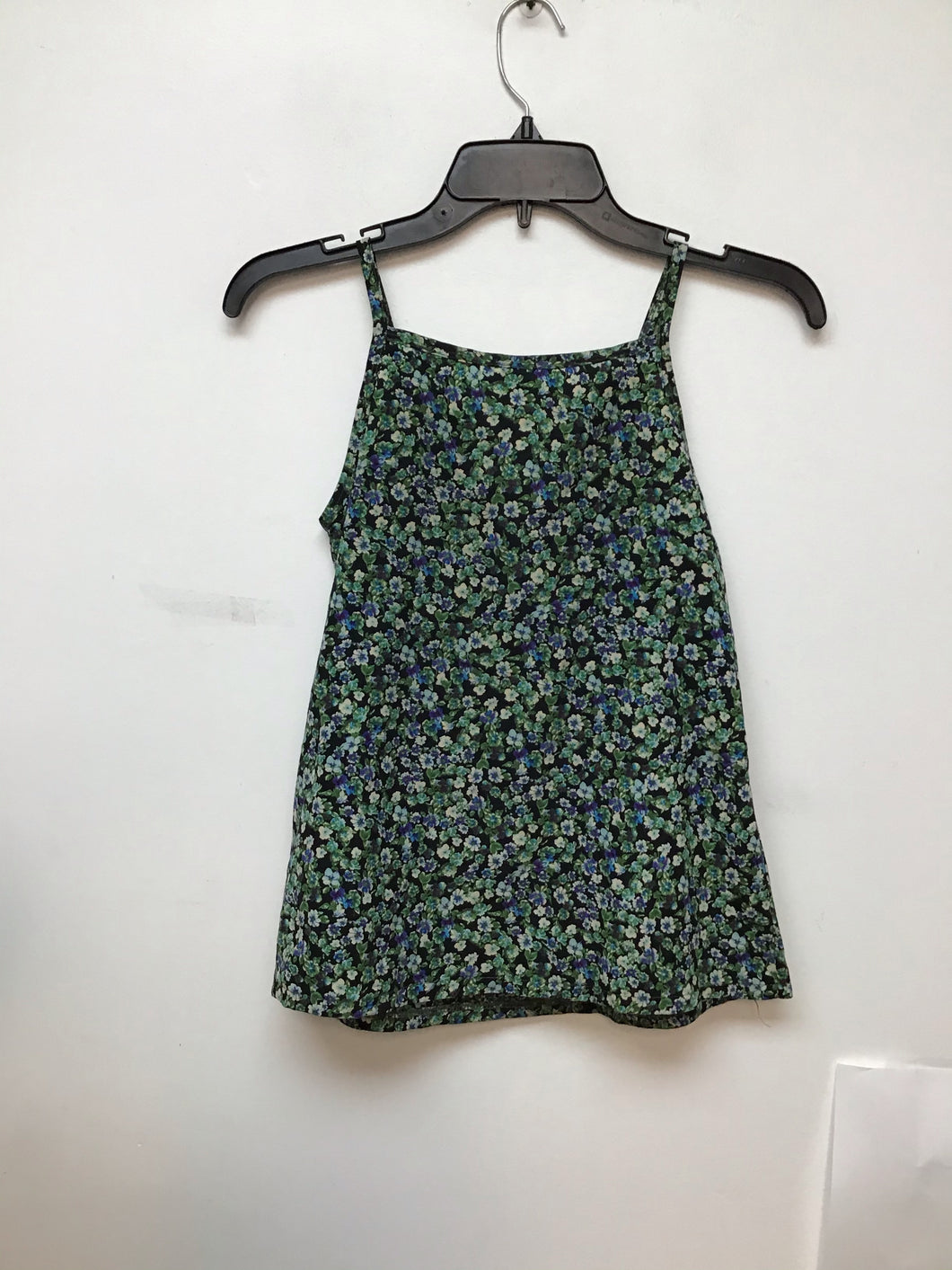 Knit Works spaghetti strap floral print top size medium