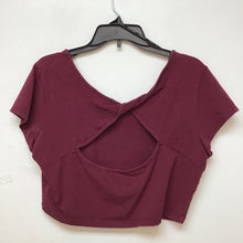 Forever 21 burgundy crop top size 2X