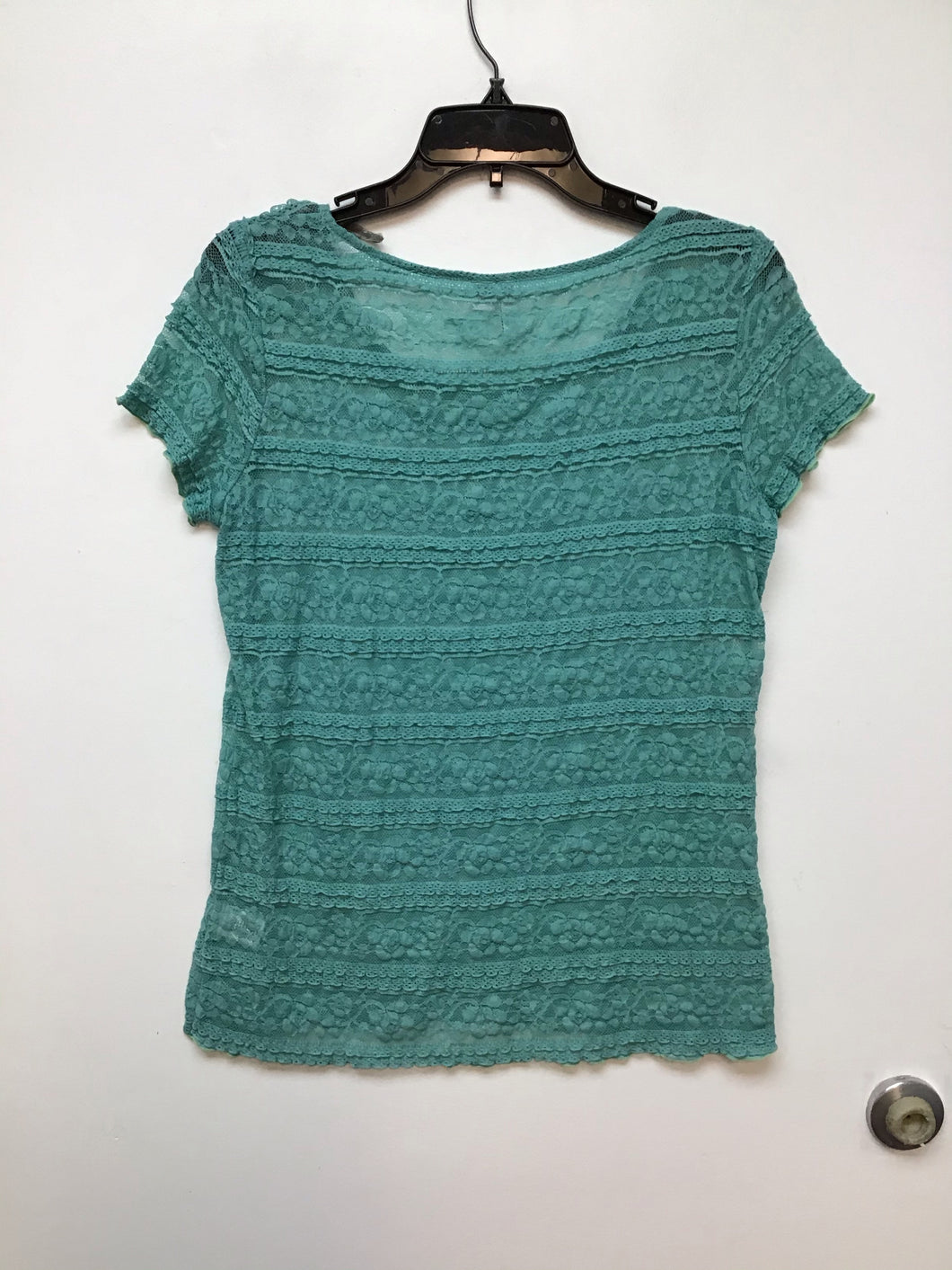 Elle Short Sleeve Lace - Aqua Small