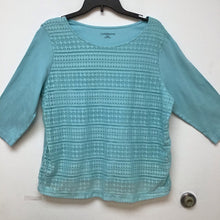 Croft & Barrow aqua blue top size XXL