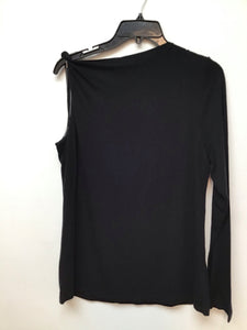 International concepts black one sleeve top size large