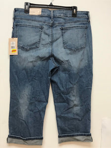 NYDJ Cropped Jean with Cuff - Denim Size 14