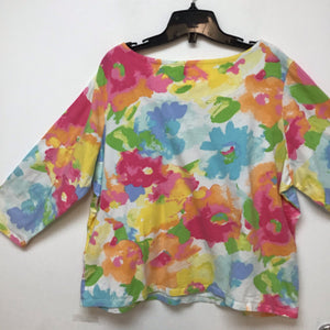 Ruby Road Favorites pastel color floral top size 2X