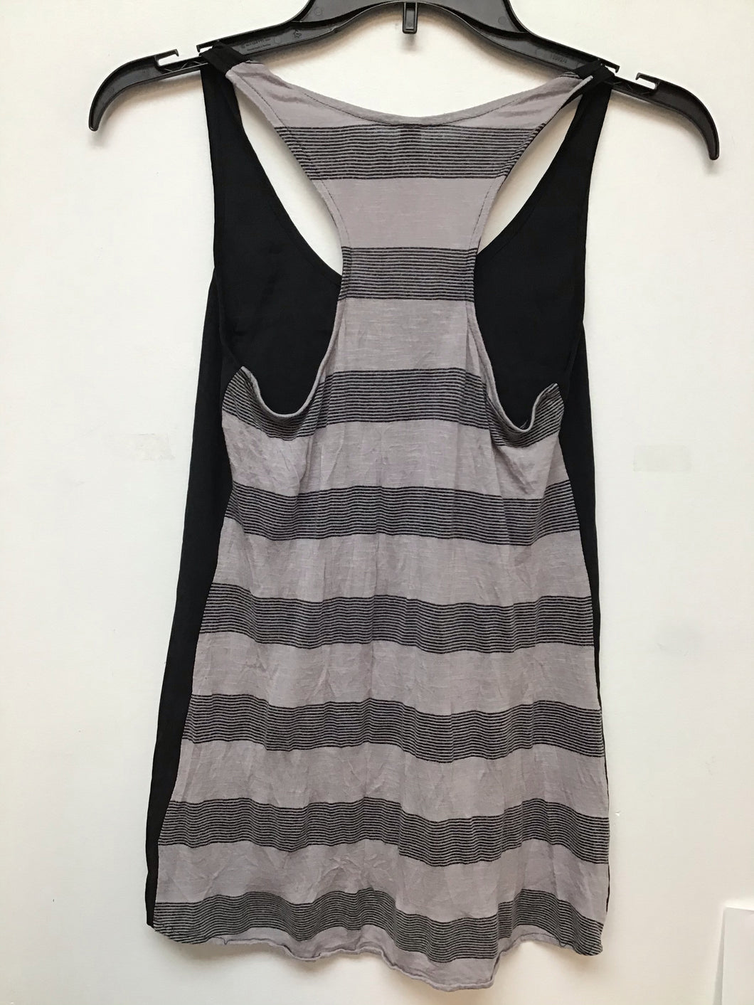 Xhilaration Black front and gray and black stripes size Xsmall