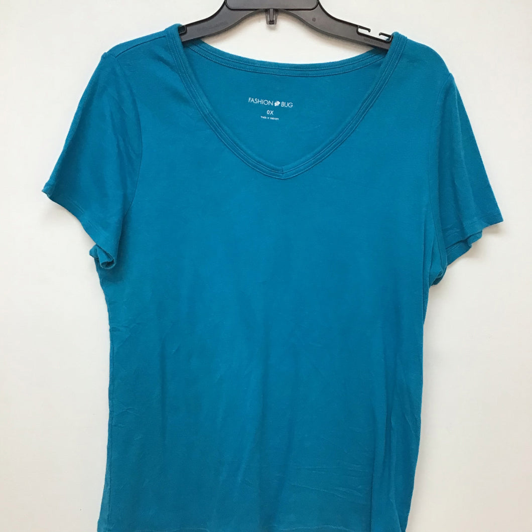 Fashion Bug teal top size 0X