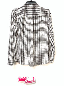 Loft Button Up Blouse Long Sleeve
