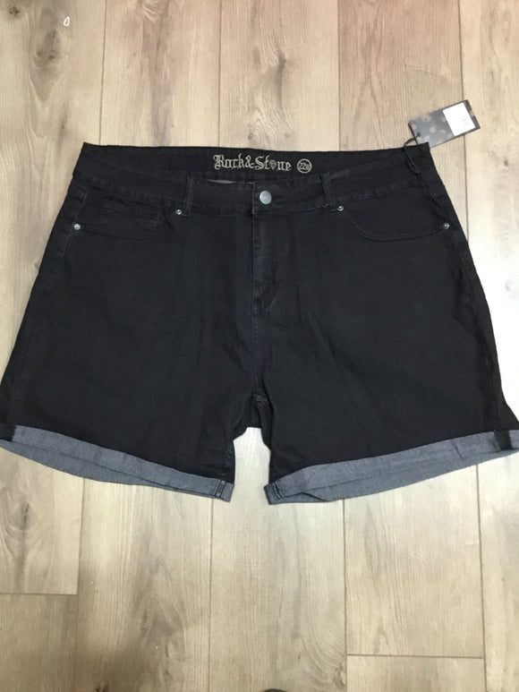 Rock & Stone black jean shorts size 22w
