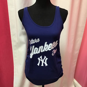Soft As A Grape Yankee maternity tank top size small