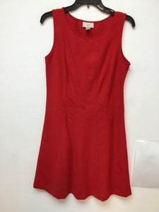 Loft red sleeveless dress size medium