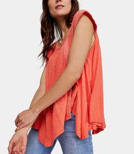 Free People Keep it Casual T-shirt - Coral Small