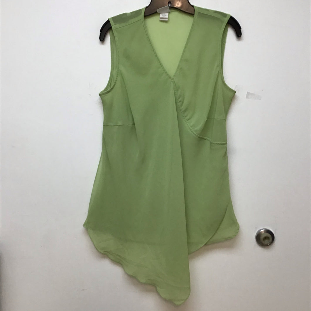 Studio Plus lime  sleeveless blouse size 14/16