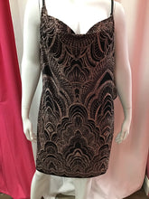 Jump apparel black dress with rose gold print 2x