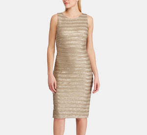 Ralph Lauren champagne color sleeveless dress size 6