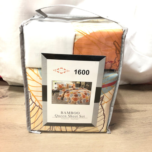 Bamboo Queen Sheet Set Fall print