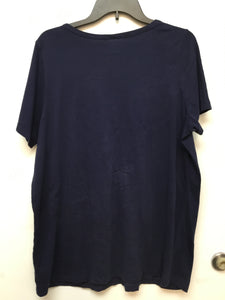 Roaman's navy blue top size large