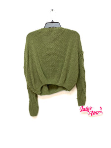 WOVEN HEART KNOT SWEATER