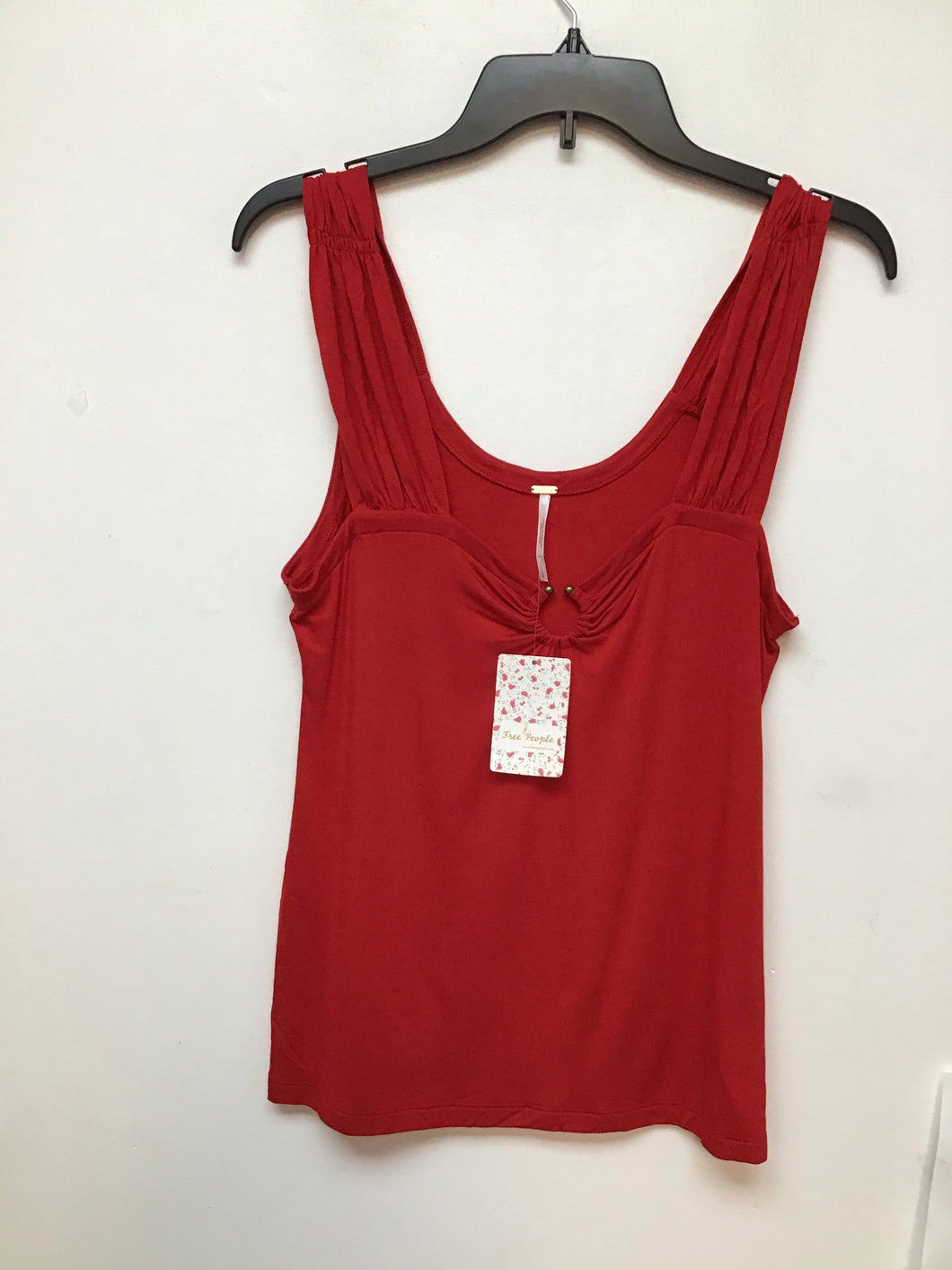 Free people red sleeveless top size large