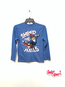 Shred the Halls Graphic Long sleeve (Kids) Sleep on it