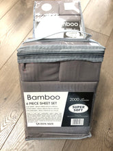 Bamboo Queen Sheet Set 2000 Series - Solid Dark Gray
